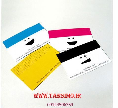 طراحی کارت ویزیت در رنهای مختلف